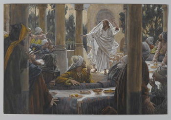 Konsttryck Curses against the Pharisees, illustration from 'The Life of Our Lord Jesus Christ', 1886-96