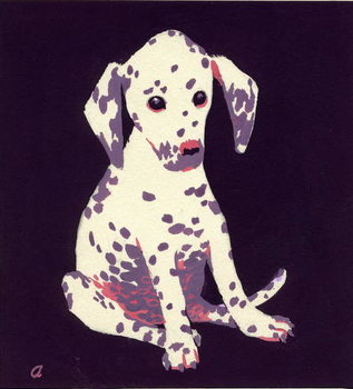 Konsttryck  Dalmation Puppy, 1950s