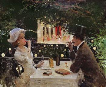 Konsttryck Dinner at Les Ambassadeurs, c.1882