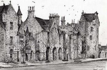 Konsttryck  Dornoch Scotland, 2006,