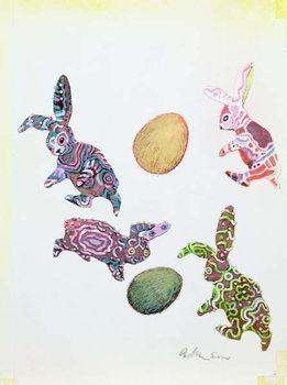 Konsttryck Easter Rabbits