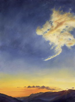 Konsttryck  Father's Joy (Cloudscape), 2001