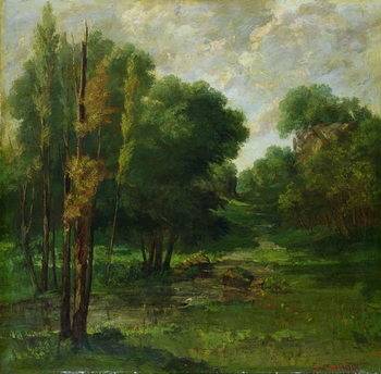Konsttryck Forest Landscape, 1864