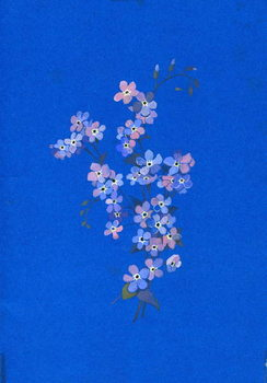 Konsttryck  Forget-me-not, 1960s