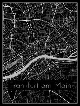Karta över Frankfurt am Main