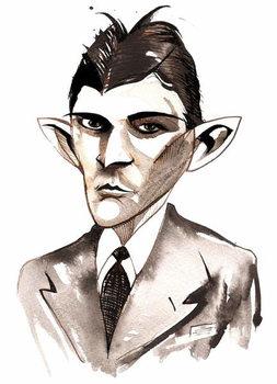 Konsttryck Franz Kafka  caricature