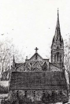 Konsttryck Glenmuick (Ballater) Church, 2007,