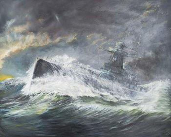 Konsttryck Graf Spee enters the Indian Ocean 3rd November 1939, 2006,