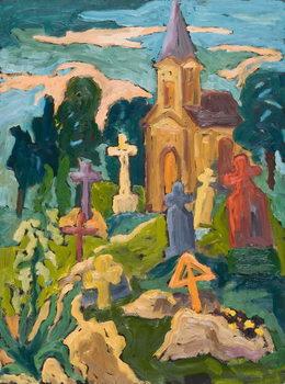 Konsttryck Graveyard and Chapel, 2005