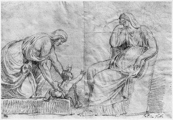 Konsttryck Gynaeceum scene