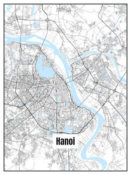 Karta över Hanoi
