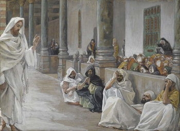 Konsttryck  He Who is God Hears the Word of God, illustration from 'The Life of Our Lord Jesus Christ', 1886-94