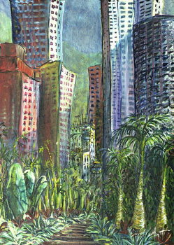 Konsttryck  High Rise, Hong Kong, 1997