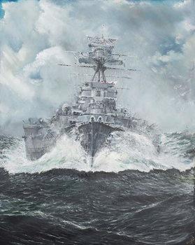 Konsttryck HMS Hood heads for Bismarck 23rd May 1941, 2014,