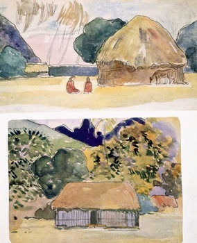 Konsttryck  Illustrations from 'Noa Noa, Voyage a Tahiti', published 1926