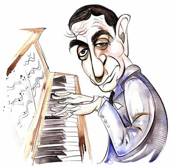 Konsttryck Irving Berlin - caricature