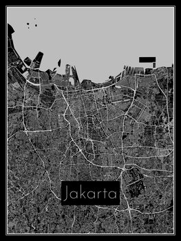 Karta över Jakarta