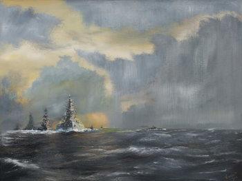Konsttryck Japanese fleet in Pacific 1942, 2013,