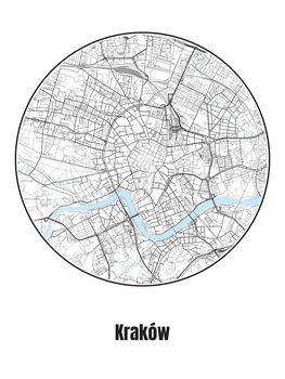 Karta över Kraków