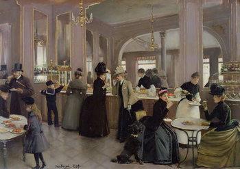 Konsttryck La Patisserie Gloppe, Champs Elysees, Paris, 1889