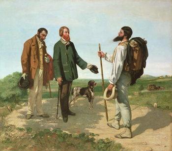 Konsttryck La Rencontre, or Bonjour Monsieur Courbet, 1854