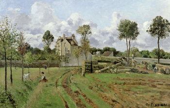 Konsttryck  Landscape, Louveciennes, c.1872