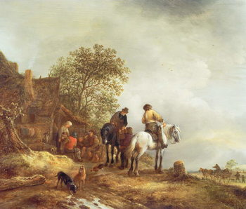Konsttryck Landscape with Riders