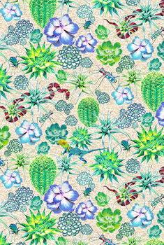 Konsttryck Les Jardins Majorelle - Succulents
