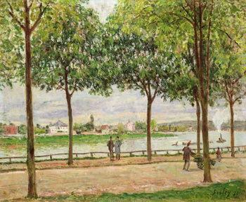 Konsttryck Les Promenade des Marronniers, St Cloud, 1878
