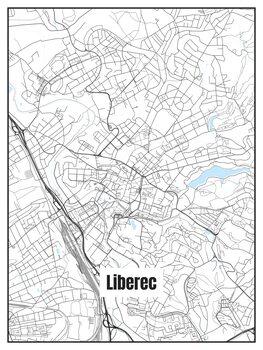Karta över Liberec