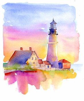 Konsttryck Lighthouse, 2014,