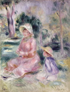 Konsttryck  Madame Renoir and her son Pierre, 1890
