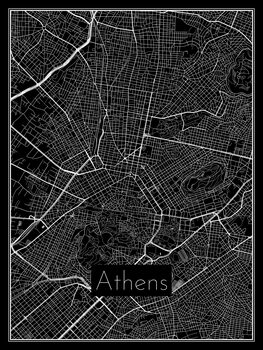 Illustration Map of Athens
