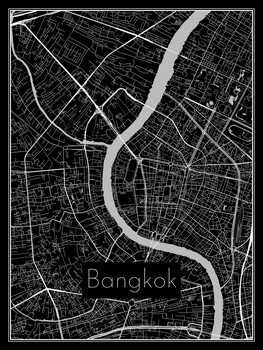 Illustration Map of Bangkok