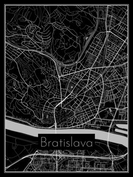 Illustration Map of Bratislava