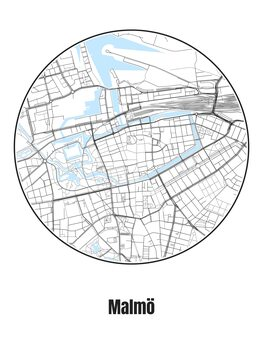 Illustration Map of Malmö