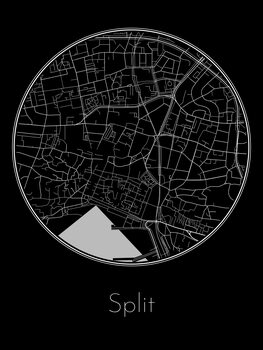 Illustration Map of Split
