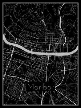 Karta över Maribor