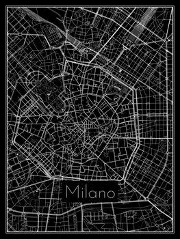 Karta över Milano