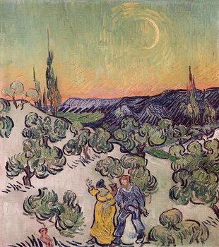 Konsttryck  Moonlit Landscape, 1889