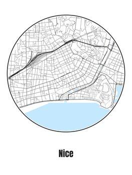 Karta över Nice