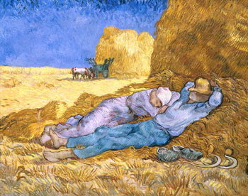 Konsttryck  Noon, or The Siesta, after Millet, 1890