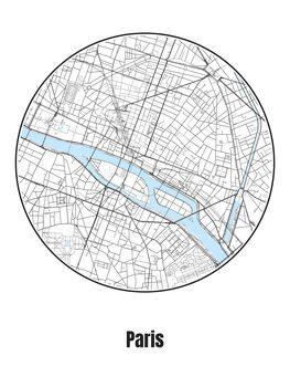 Karta över Paris