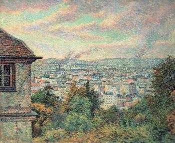 Konsttryck Paris, View of Montmartre