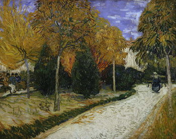 Konsttryck Path in the Park at Arles, 1888