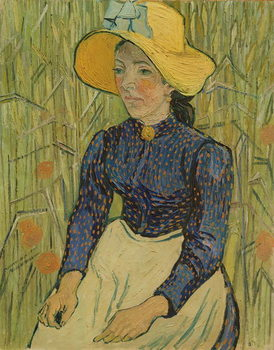 Konsttryck Peasant Girl in Straw Hat, 1890