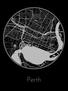 Karta över Perth