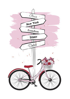 Illustration Pink Bike