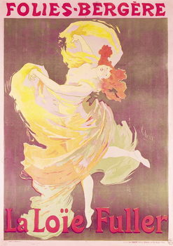 Konsttryck Poster advertising Loie Fuller (1862-1928) at the Folies Bergere, 1897