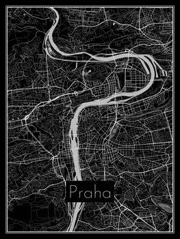Karta över Praha